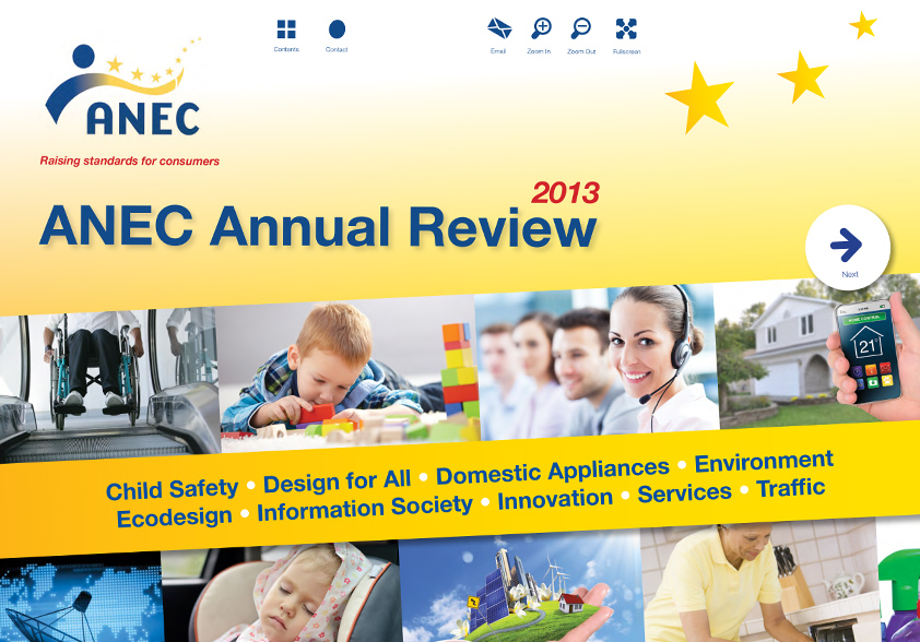 ANEC Annual Review 2013 cover