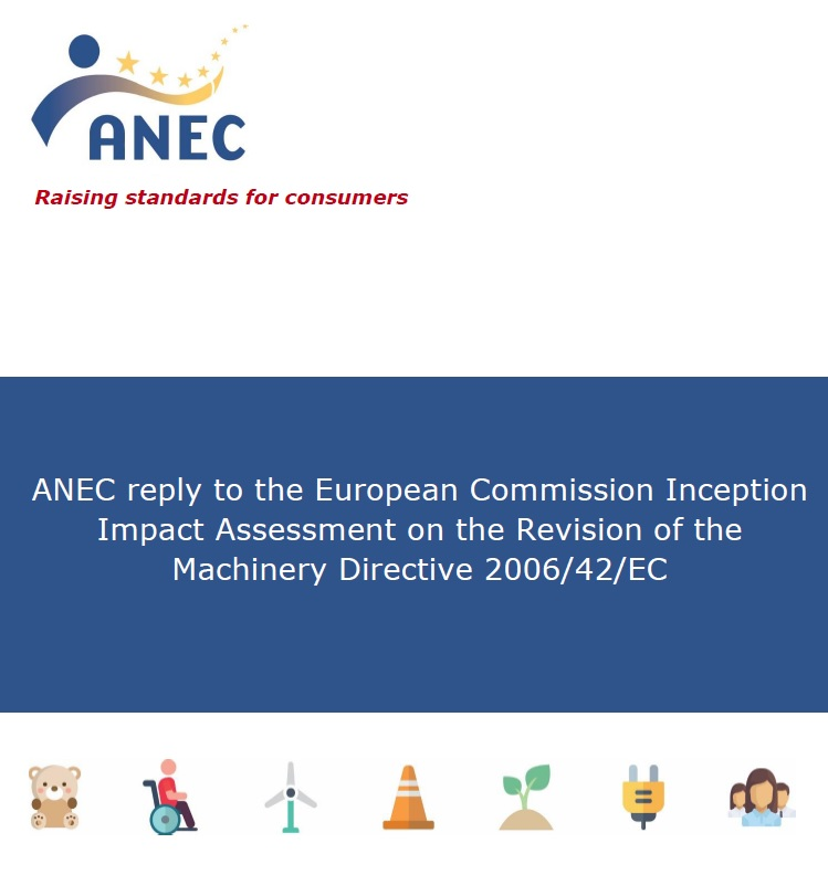ANEC reply to the EC Inception Impact Assessment on the Revision of the Machinery Directive
